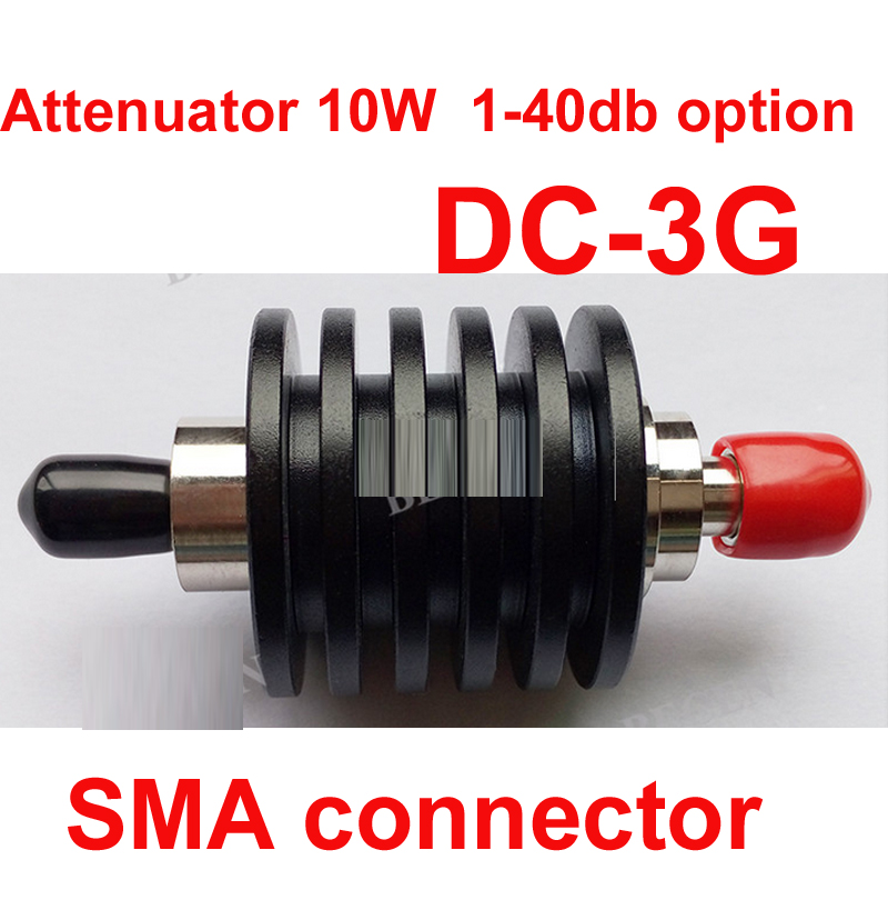 telecom RF attenuator 10W SMA male to female DC-3G 3-40DB attenuation feeder connector RF COAXIAL jack communication Attenuator