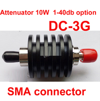 Power 10W RF Attenuator SMA Male To Female DC 3G 3 40DB Attenuation Connector Feeder Connector