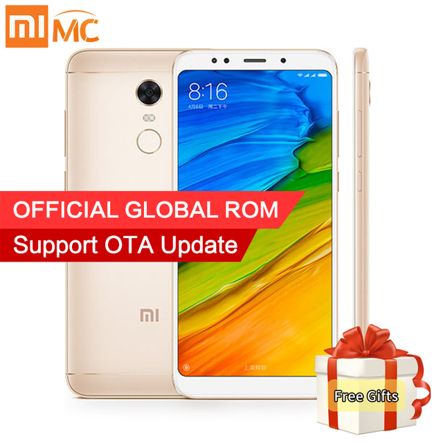 "Xiaomi Redmi 5 Plus 4GB 64GB Smartphone 5.99"" Full Screen Snapdragon 625 Octa Core 12MP Camera Soft-toned Selfie-light 4000mAh"