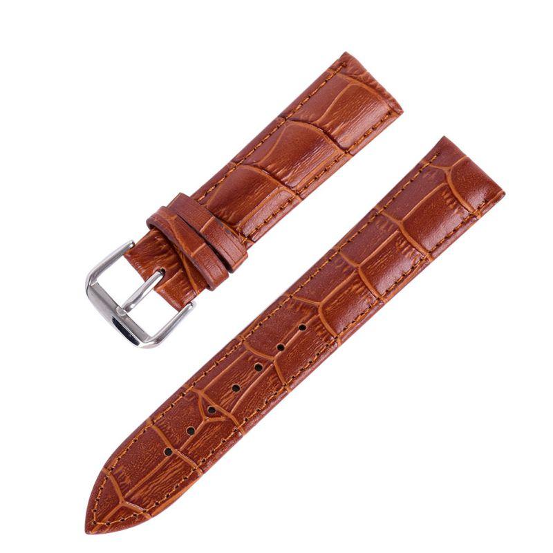 new durable men women genuine leather watch strap for men