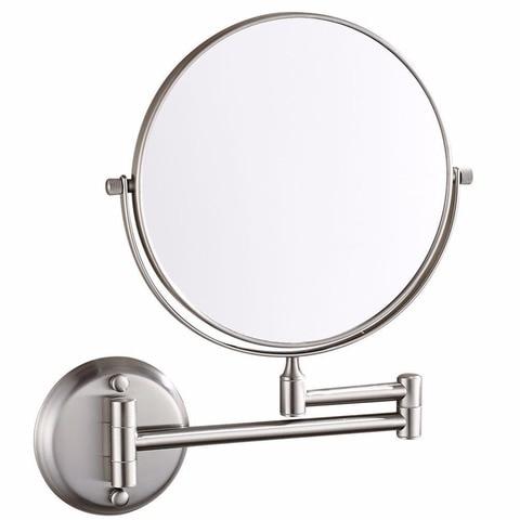 Fixado na parede 2 faces 10x 1x amplia o espelho cosm tico com amplia o