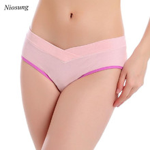 Niosung New Cotton Maternity Panties Low-waist Underwear Clothes For Pregnant Women v