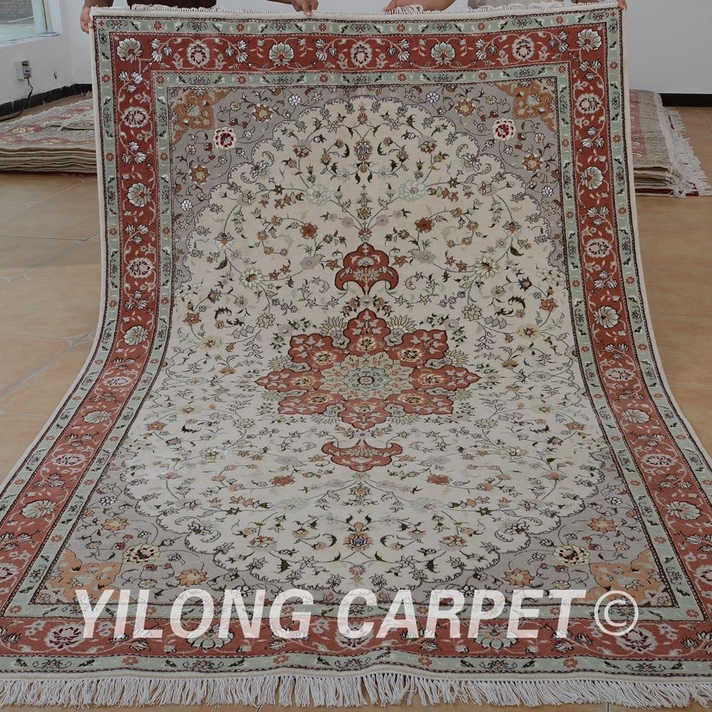 Yilong 6 X9 Oriental Oriental Wool Carpets Pink Thick