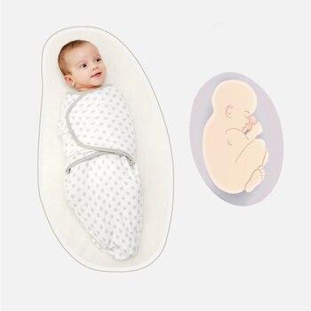 679cbbc7d LionBear cocoon baby sobre para recién nacidos 100% algodón 0-3 meses bebé  saco de dormir de alimentación mantas de baño Swaddle bufanda
