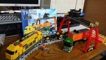 Zestawy building block kompatybilne z lego załadunku i rozładunku stacji pociąg 3d cegieł edukacyjne zabawki hobby