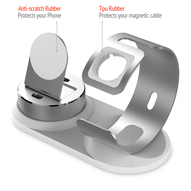 4 In 1 Desk Charging Dock Apple Watch Stand Table Charge Phone Holder Station Iphone X8p76se Charger Airpods