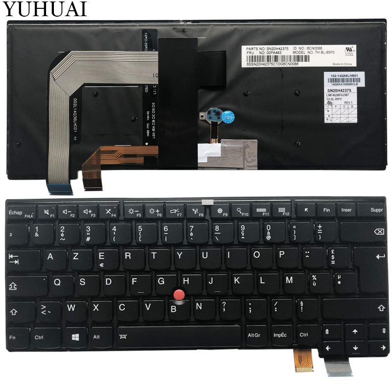 New For Lenovo Thinkpad T450S T450 T460 keyboard French Clavier No backlit