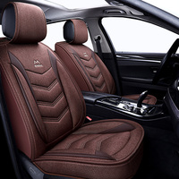 (Front + Rear) Universal Flax car seat covers For Volkswagen vw passat b5 b6 b7 polo 4 5 6 7 golf tiguan jetta touareg AUTO