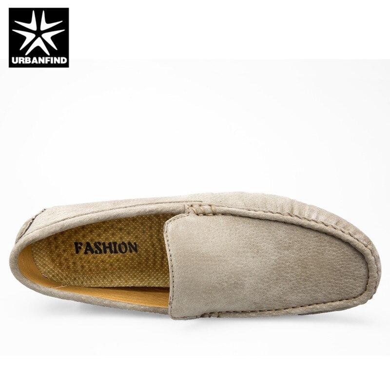 khaki Chaussures Mode grey 44 De on Suédé Hommes Mocassins Slip Solide Urbanfind Casual Cuir En Taille Blue D'été Nouveau 38 Printemps Homme Couleur ZgWtWqnx1