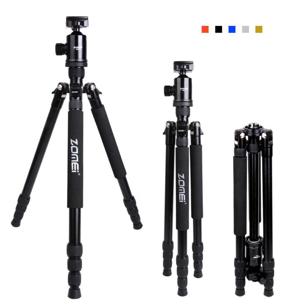Zomei Z888 Professional Travel Aluminum Camera Tripod Lightweight Portable Monopod With Ball Head for DSLR SLR Digital Camera zomei q666 professional tripod monopod with ball head compact travel tripods portable camera stand for slr dslr digital camera