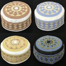 Модные мусульманские шапки Islanmic, круглые шапки для мужчин, размер 56-59