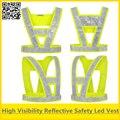 Oi vis colete de segurança do tráfego Led levou reflexivo colete de segurança colete luzes led amarelo fluorescente colete com lâmpadas led livre grátis
