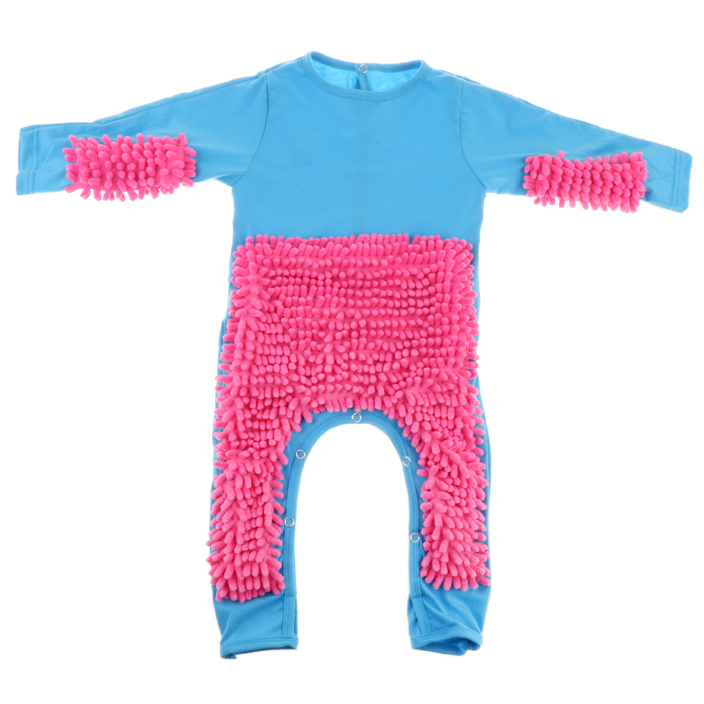 Baby Mop Romper Newborn Clothes Crawling Jumpsuit Infant Cleaning Mop Suit Cleaning Mop Suit Costume Bodysuit