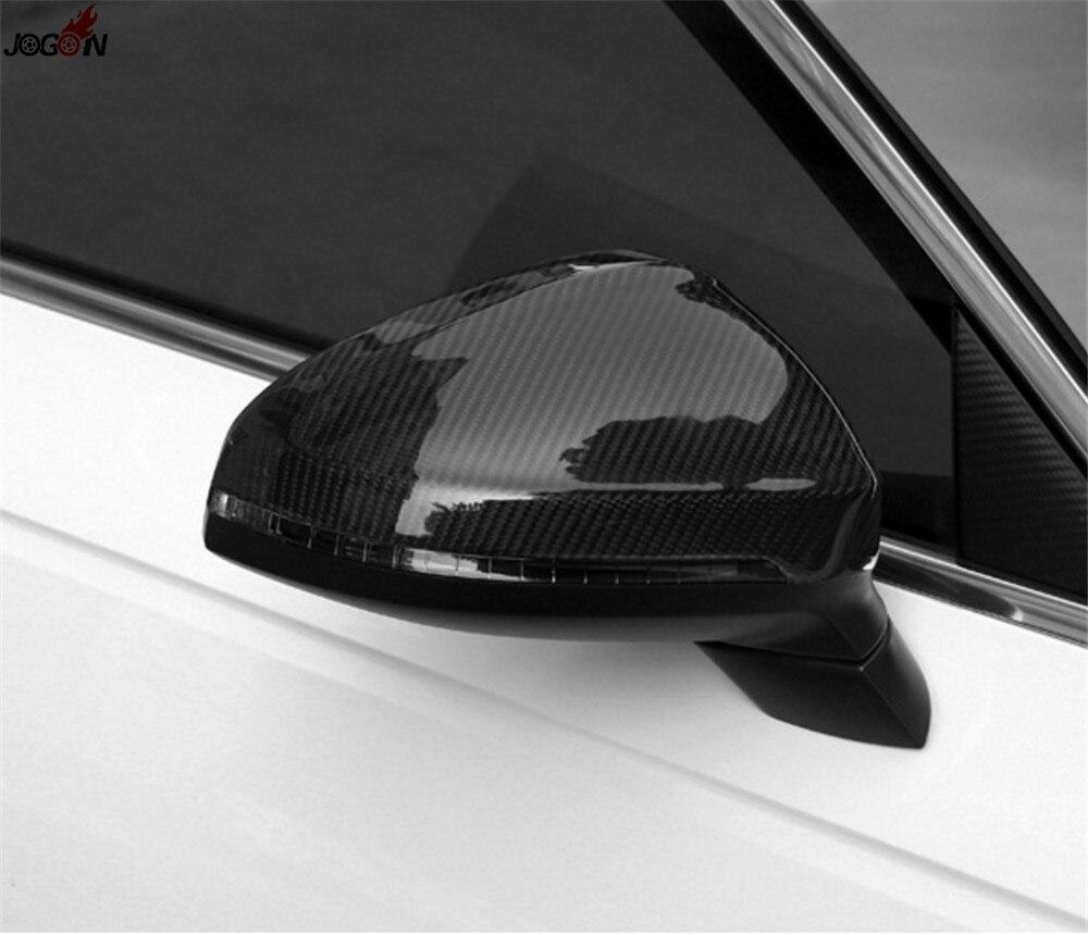 Крыло заднего вида Зеркало заднего вида Обложка для Audi A4 S4 RS4 B9 2016 2017 и A5 S5 RS5 2017 углерода волокна Замена отделкой