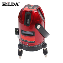 5 Lines 6 Points Laser Level 360 Vertical & Horizontal Rotary Cross Laser Line Leveling Can Be Used w/ Outdoor Mode