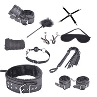 10 teile/satz Faux Leder Bondage Fesseln Sex Kit Erwachsene Produkte, Bondaeg Set Erwachsene Sex Furnitudre für Paare Frauen