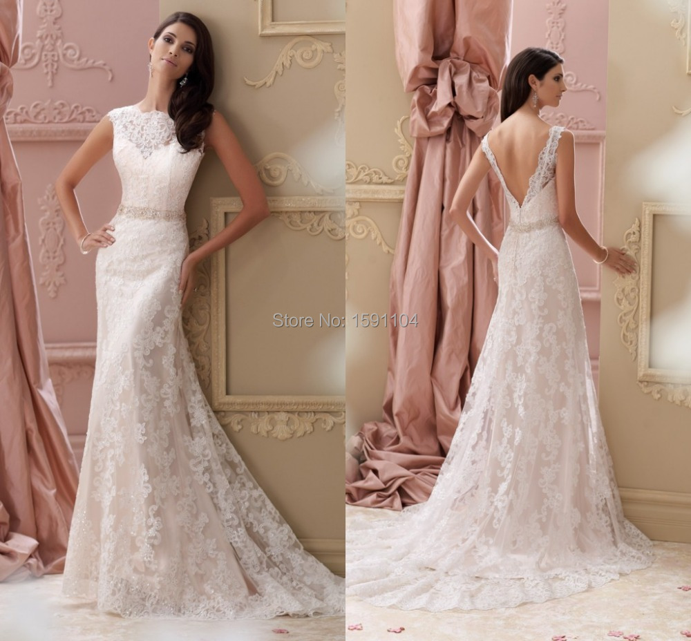 2015 New Lace Perfect Wedding Dress Bride Up Ball Gown ...