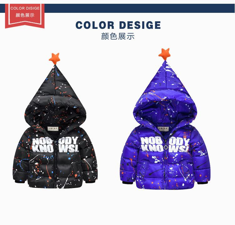 3ff11a404 2016 Girls Boys Winter Coat Cotton Jacket For Girl And Boy Baby ...