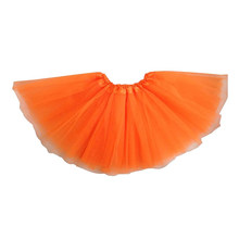 girls Modern ballet Fairy tutu skirt orange(China)