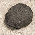 Tapa octogonal masculina cheque vintage color sólido casquillo del pintor otoño e invierno sombrero masculino breve manera