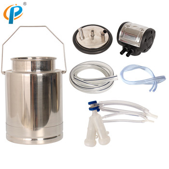 10Liter Small Portable SS304 Material Goat Milking Bucket Cluster Group for Cow Milking Machine Spare Parts
