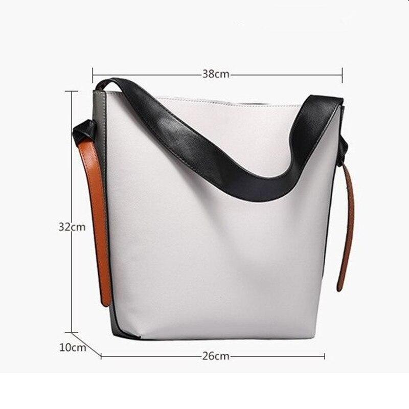 DikizFly borsa delle donne di marca genuino totes borse in pelle femminile classico Secchio borse borsa a tracolla donne borse delle signore A Pannelli-in Borse a tracolla da Valigie e borse su  Gruppo 3