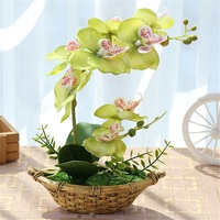 Artificial Orquídea Borboleta Bonsai Simulação Decorativo Flores Artificiais Falso Orquídea Com Maconha Enfeites Para Casa Nova Decoração Ano