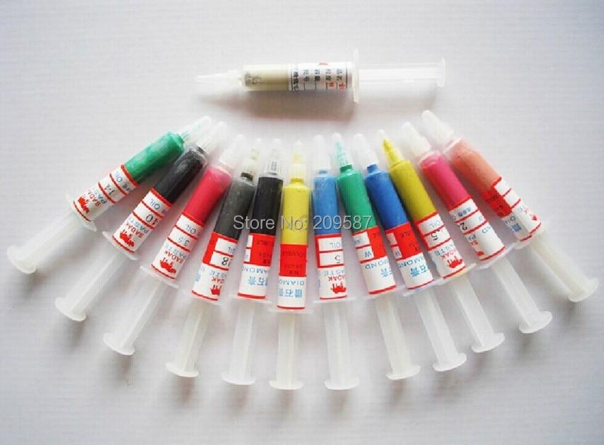12pcs  5 Gram Diamond Polishing Lapping Paste Compound Syringes 0.5 To 40 Micron