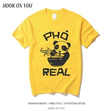 ee5f4be02 Pho Panda T Shirt Food Gift Funny T-shirts Foodie Noodle Bowl Mens Tshirt  Womens