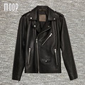New fashion black genuine leather coats 100%lambskin jacket real leather motorcycle jackets manteau homme veste cuir homme LT777