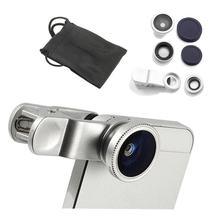 Fisheye Objektiv 3 in 1 Handy Linsen Fisch auge + weitwinkel + Macro Kamera Objektiv für iphone 7 6s plus 5s 5 Xiaomi Huawei Samsung