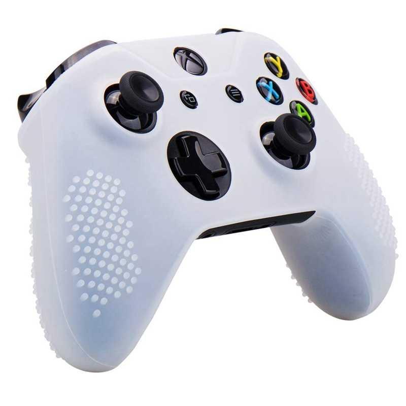 Силиконовая резиновая крышка чехол против скольжения для Xbox One/S/X контроллер X 4 (черный, белый, красный и синий) + Fps Pro Экстра высота Thu