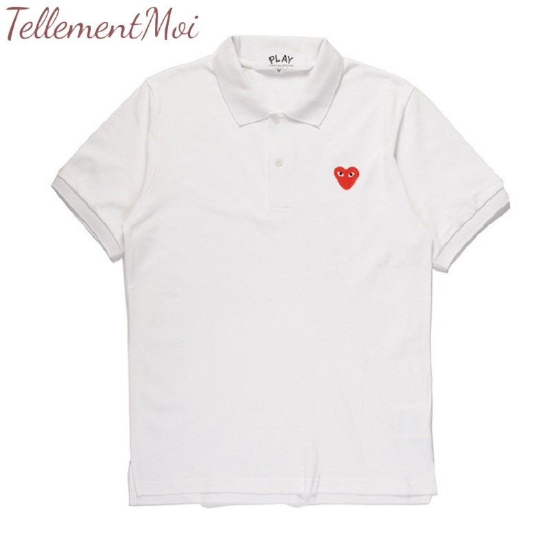 Polo   Shirt Men Casual Solid Love Embroidery Unisex Cotton Short Sleeve   Polo   Summer Turn Down Collar Male   Polo   Shirt S-XL