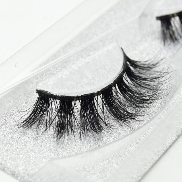visofree 100% Handmade Eye Lashes 3D Real Mink Makeup Thick Fake False Eyelashes With Glitter Packing D108 4