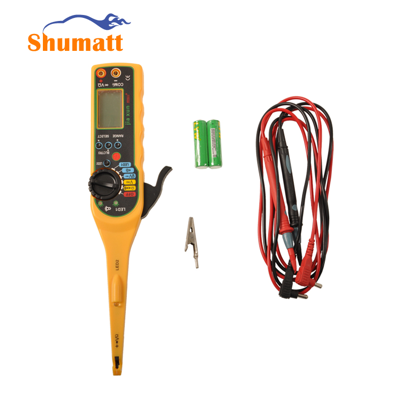 ФОТО Automobile Auto Car Voltage Resistance Power Circuit Tester Diagnsotic Tools With LCD Display Black Red Testing Line
