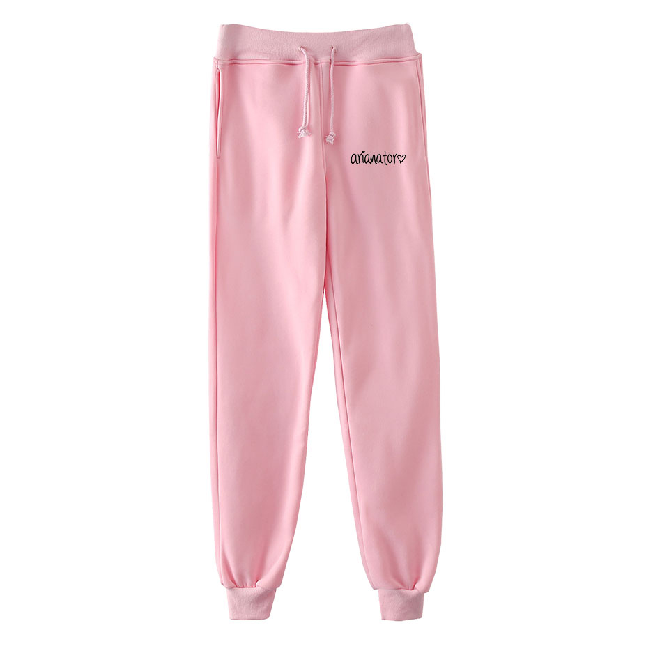 Frdun Tommy 2018 NEW Ariana Grande Anime Sweatpants Kpop Fashion Casual Jogger Pants Casual Warm Pants Slim Kpop Men/Women Pants