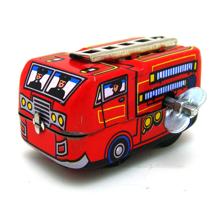 Kids Gift Clockwork Toys Retro Steam Train,Fire truck Reminiscence Children Vintage Tin Toy Kid Classic Toys Wind Up Toys Boy Pakistan