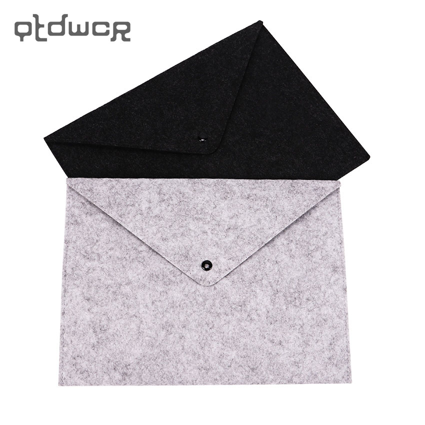1PC A4 Document Bag Chemical Felt File Folder Durable Briefcase Document Bag Filing Products Carpetas Stationery School Supplies
