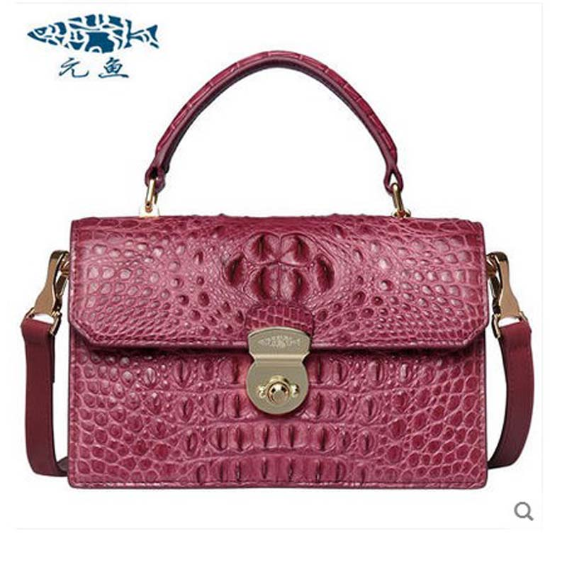 yuanyu 2018 new hot freeshipping crocodile leather women handbag genuine crocodile leather bag single shoulder bag women flap yuanyu new crocodile wallet alligatorreal leather women bag real crocodile leather women purse women clutches