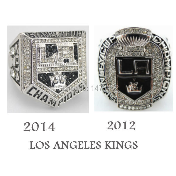 Free shipping 2012 2014 LOS ANGELES KINGS STANLEY CUP RING CHAMPIONSHIP RINGS SOLID 2PCS AS BEST GIFT SIZE 11