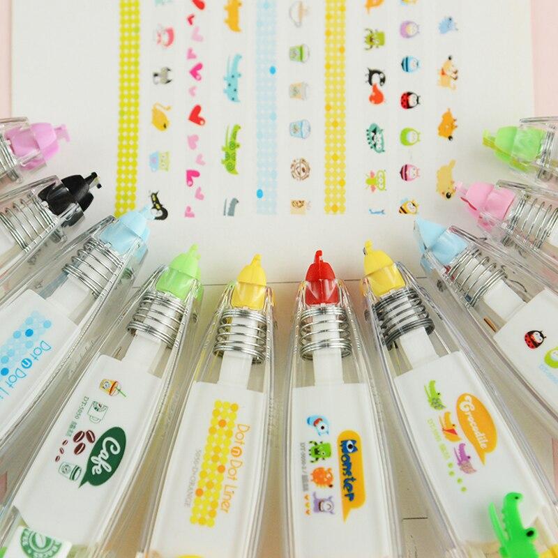 1X Cartoon Cute Sweet Decorative Correction Tape Fita Cetim Deco Rush Papeleria Cinta Correctora Kawaii School Materials