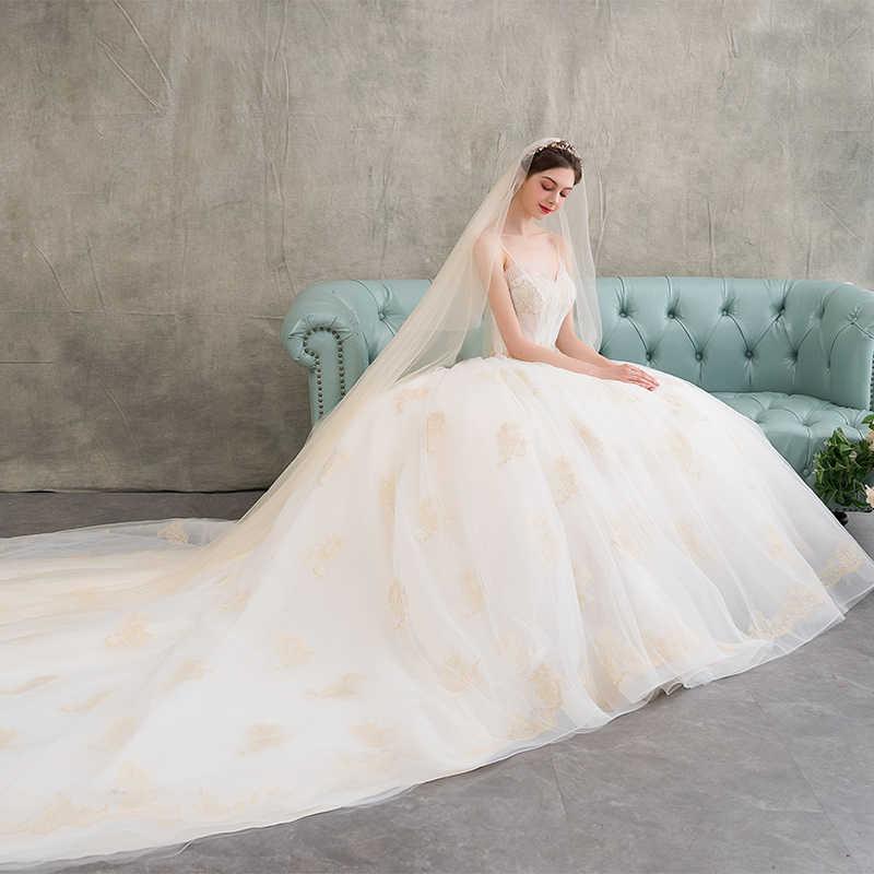 שרוולים תחרה שמלת כלה 2018 סטרפלס אונליין חתונה שמלות כלה נובל נדל תמונה weddingdress vestido דה noiva