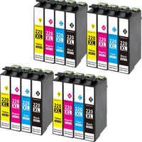 16 Pack Compatible Epson T220 XL Ink cartridge For Epson WorkForce WF 2650 WF-2630 WF-2660 WF-2750 WF-2760 XP-320 XP-420 XP-424