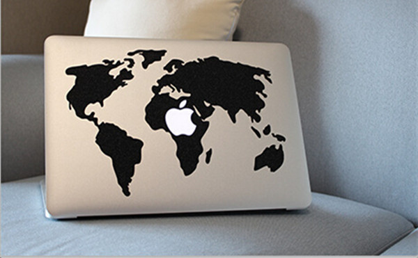 World map laptop decal sticker for apple macbook air pro retina 11 world map laptop decal sticker for apple macbook air pro retina 11 13 15 cover sticker gumiabroncs Gallery