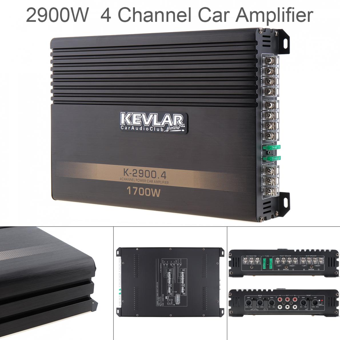 1700w Dc12v Class Ab Digital 4 Channel Aluminum Alloy High Power Amplifiers Car Stereo For Home
