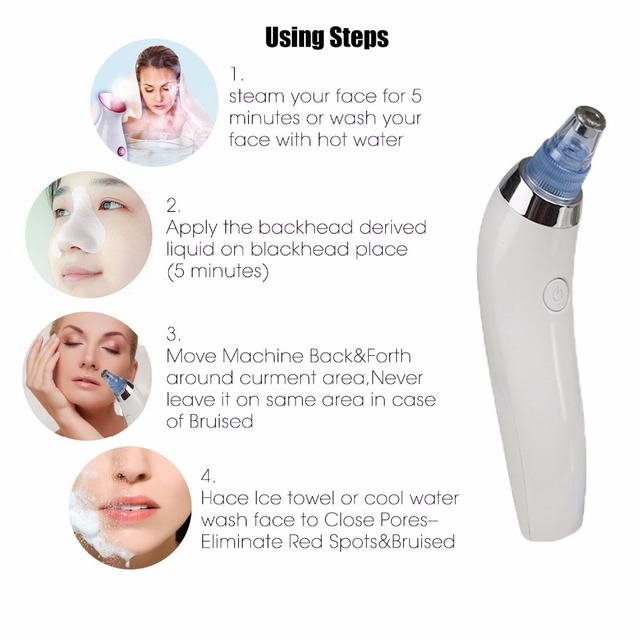 Blackhead Acne Remover Vacuum Cleaner Suction Machine Diamond face Peeling Acne Pimple Pore Cleansing Blackhead Remover Tools