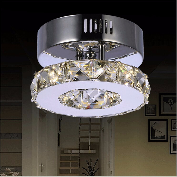 Modern Led Ceiling Lights for bedroom Hot Sale Led Crystal Ceiling Lamp Corridor Balcony Led Light Warm White (3500-4500K) Diame fumat modern minimalist bedroom ceiling light corridor balcony glass lampshade light kitchen round metal ceiling lamps