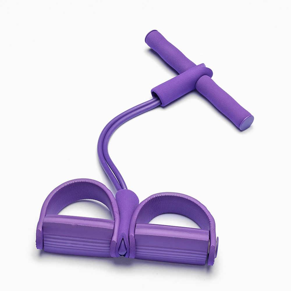 2/4 трубка сильный Эспандеры для фитнеса латексные Педальный Тренажер для ног тяговый трос yoga Спорт фитнес, Пилатес оборудование для похудения