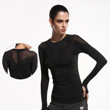 Women's Yoga T-shirt Yoga Top Net Yarn Sport Shirt Woman Fitness Running Clothing