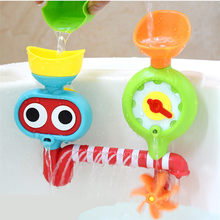 Cute Bath Toy Summer Water Toys for Children Play Beach Bathroom Shower Kit Bathing Water Spraying Tool Wheel Type Dabbling Toy(China)